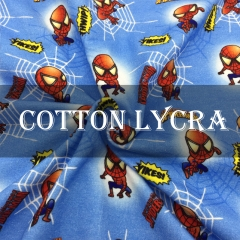 CL240P  95 cotton 5 spandex custom cotton lycra knit  printed fabric