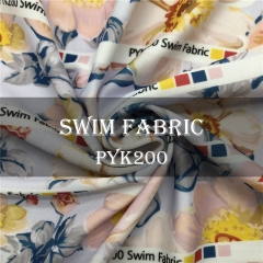 Custom Printed Sport Lycra And Swim Fabric NO MOQ, 200-220gsm, 88%P 12%Sp ----PYK200
