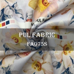 Custom Printed Polyester laminated PUL fabric, CPSC certificated, MOQ 1000m---FA075S