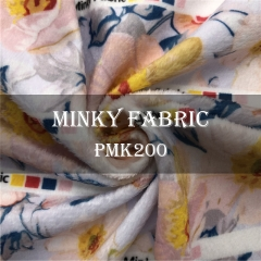Custom Printed Minky Fabric For Baby Blanket NO MOQ, 220gsm, 100% polyester - PMK200