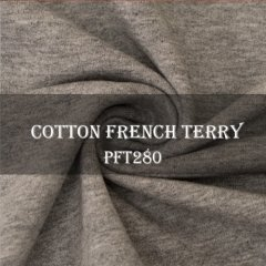 95%C 5%Sp Cotton Lycra French Terry Fabric Stock for wholesale
