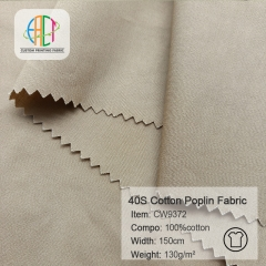 CW9372 40S 133*72 100%Cotton Poplin fabric MOQ=100m