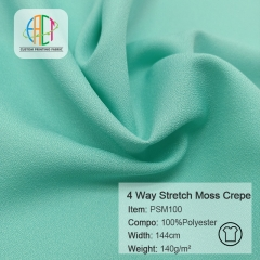 PSM100 4 Way Stretch Moss Crepe Fabric MOQ=100m