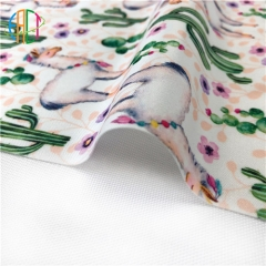 FA075S Custom Printed Polyester laminated PUL fabric, CPSC certificated, NO MOQ