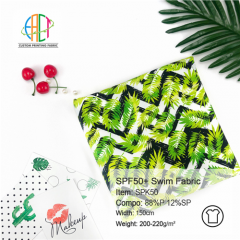 Custom Fabric Printing SPF50+ swim fabric --- SPK50