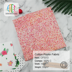 CP3372 Custom Printed Cotton Poplin Fabric NO MOQ 130gsm