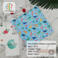 Custom Printed Polyurethane Interlock Fabric NO MOQ 120gsm --- FA075