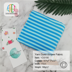YDS190 Yarn Dyed Stripes Cotton Fabric,190gsm,MOQ=25KG
