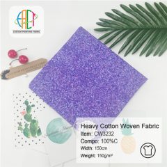 CW3232 Custom Printed Heavy Cotton Poplin Fabric NO MOQ 150gsm