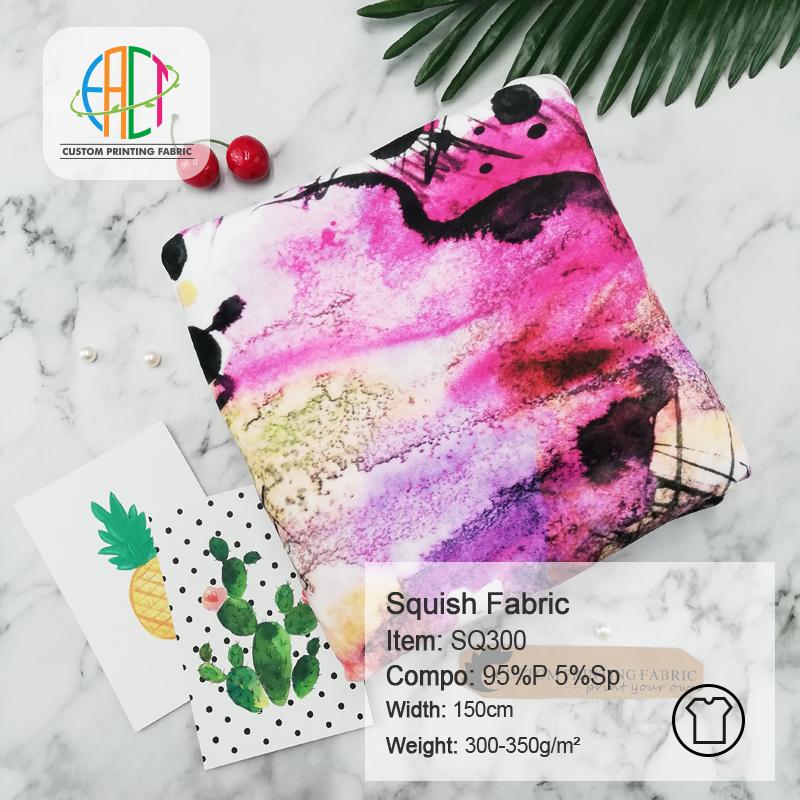 Custom Printed Squish Fabric ( Double Side Minky )