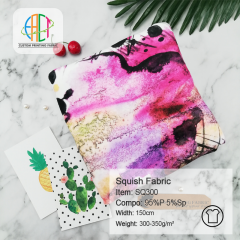 SQ300 Custom Printed Squish Fabric ( Double Side Minky )