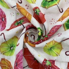 BMD40 Custom Printed Bamboo Cotton Muslin Fabric For Baby Swaddle NO MOQ