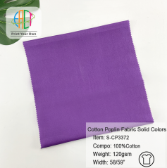 S-CP3372 Wholesale Solid Cotton Poplin Fabric 120gsm MOQ 50m