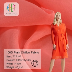 TCF180 Wholesale Plain Chiffon Fabric 85gsm MOQ 50m