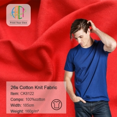 CK8122 Wholesale 100% Cotton Knit Jersey Fabric 160gsm MOQ 25KG as a roll