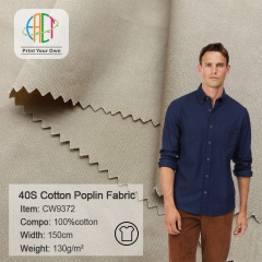 MOQ=100m,CW9372 40S 133*72 100%Cotton Poplin fabric