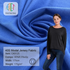 CK8125 Wholesale 95%Rayon 5%Spandex Modal Jersey Fabric 170gsm MOQ 25KG as a roll