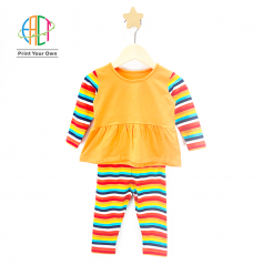 BC013 Custom Printed 2-Pieces Set for Kids Low MOQ
