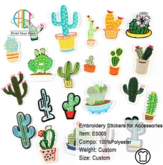 ES005 Plant Series Embroidery Stickers for Clothes Accessories 22pcs