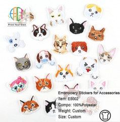 ES002 Cartoon Series Embroidery Stickers for Clothes Accessories