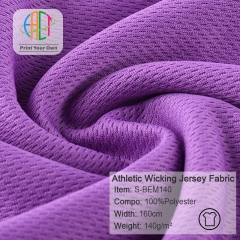 S-BEM140 Wholesale Athletic Wicking Jersey Fabric,180gsm,160cm,MOQ=25kg
