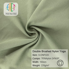 S-DNP220 Wholesale Skin-Friendly And Super Soft Yoga Clothing Nylon Spandex Fabric,220gsm,160cm,MOQ 25kg as a roll